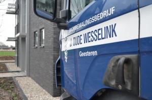 Oude Wesselink Bronbemaling Logo op Scania